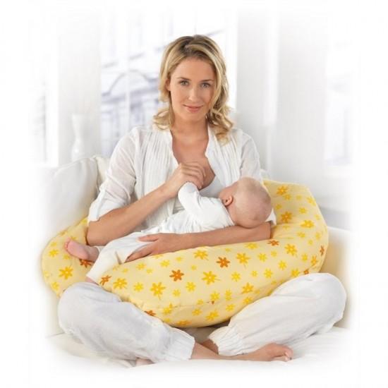 Theraline Maternity & Nursing Pillow - Yellow Flowers
