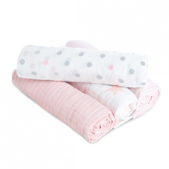 aden by aden + anais: doll classic muslin swaddles multi pack 4