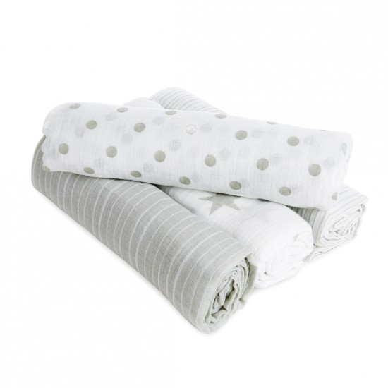 aden by aden + anais: dusty classic muslin swaddles multi pack 4