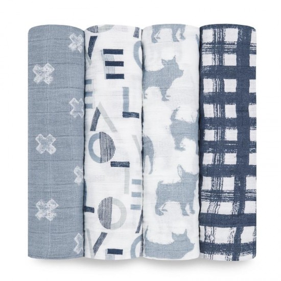Aden + Anais Waverly classic muslin swaddles 4-pack