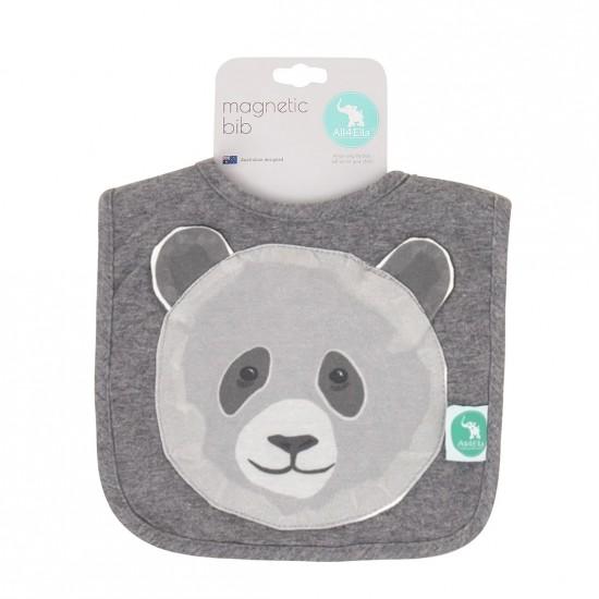 All4Ella Magnetic Bib - Panda