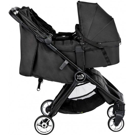 Baby Jogger City Tour 2 Double Stroller Carry Cot - Jet