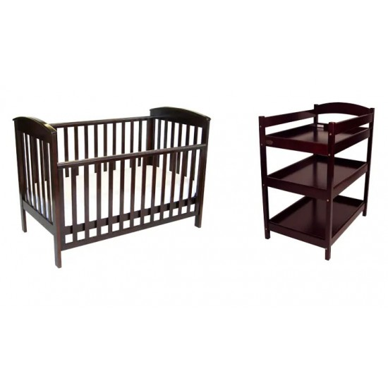 Babyhood Classic Curve Cot + Change table Package
