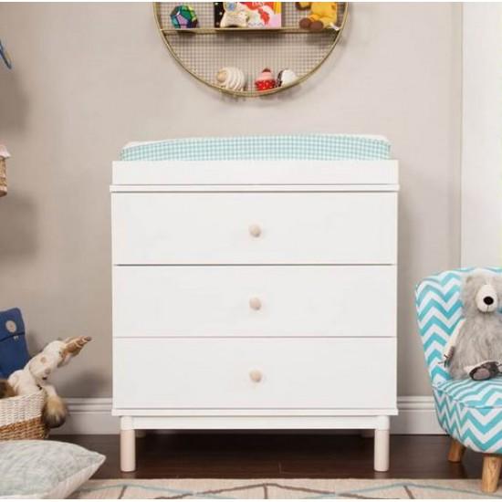 Babyletto - Gelato 3 Drawer Changer / Dresser - White / Washed Natural