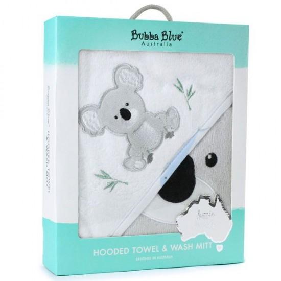 Bubba Blue Aussie Animals Koala Hooded Towel & Bath Mitt