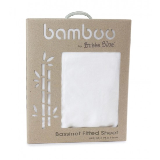 Bubba Blue Bamboo Fitted Sheet - Bassinet