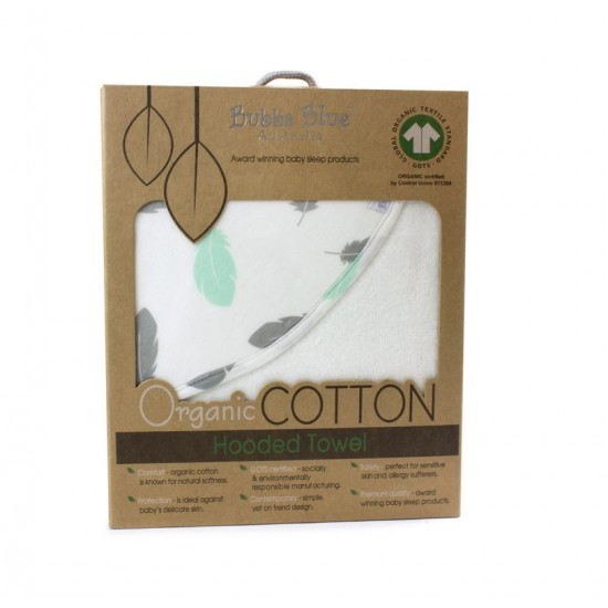 Bubba Blue Organic Feathers Hooded Towel