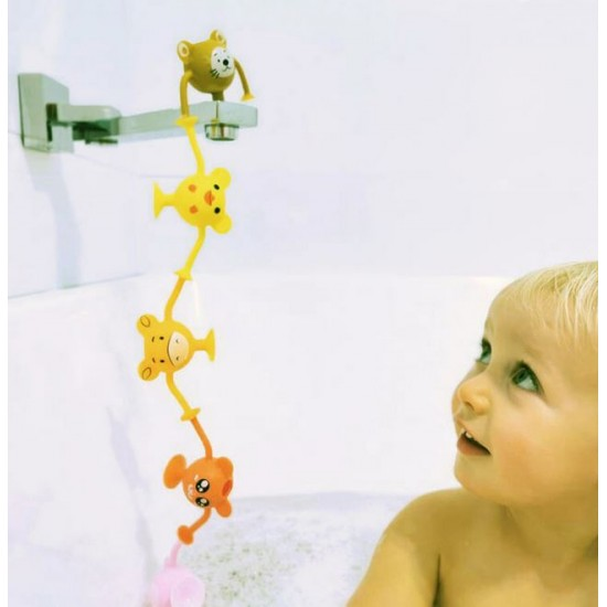 Cherub Baby Silicone Suction Bath Toys 12pk – Entire Zoo Collection