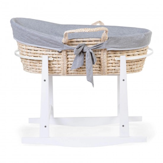 Childhome Corn Husk Moses Basket + Stand