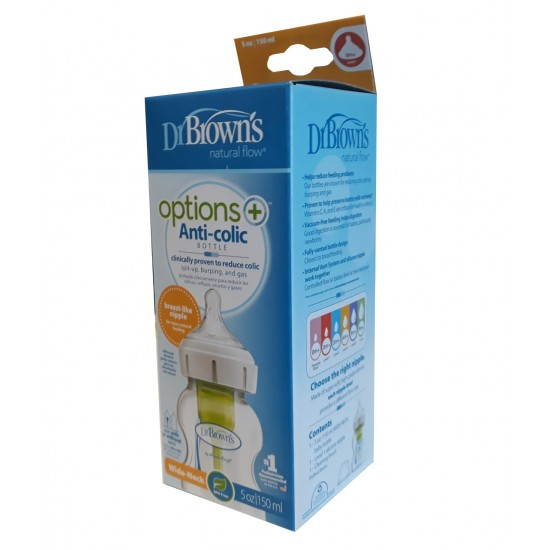 Dr Browns 150ml Options+ Wide Neck Bottle