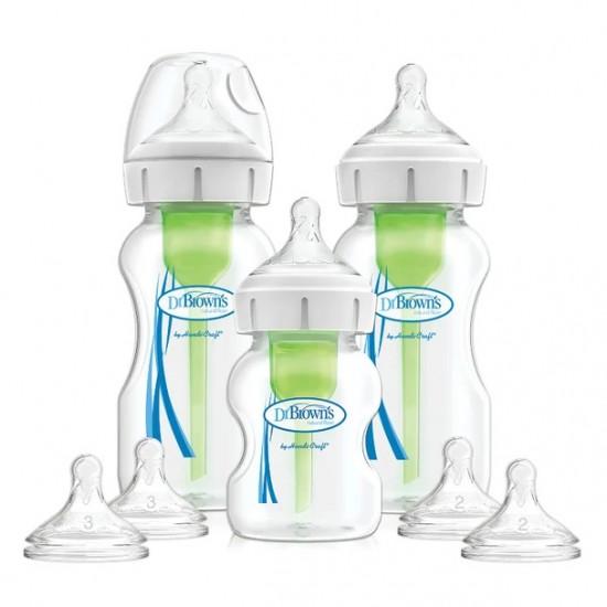 Dr Browns Options+ Wide Neck Feeding Bottle Starter Kit