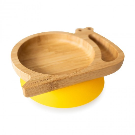 Eco Rascals Organic Bamboo Suction Plate – Snail