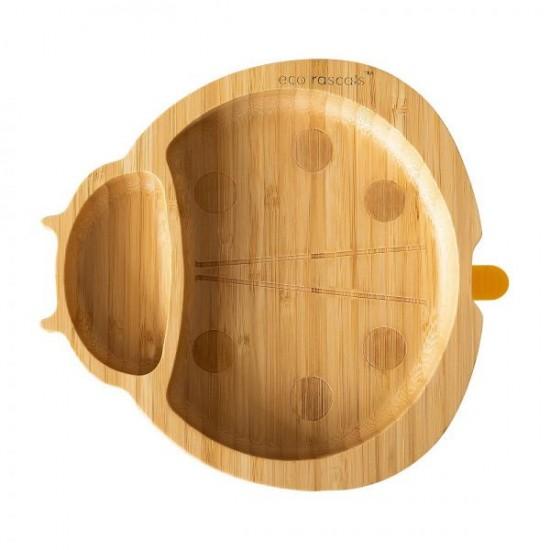 Eco Rascals Organic Bamboo Suction Plate - Ladybird