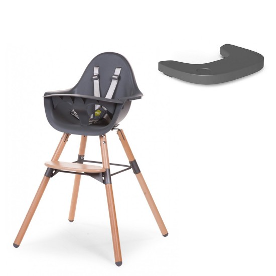 Childhome Evolu 2 High Chair with Plastic Tray