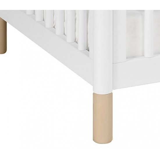 Babyletto Gelato Cot - White and Washed Natural