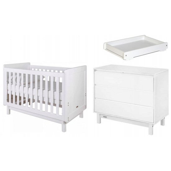 Grotime Scandi Cot + Scandi Chest + Crest Change Top