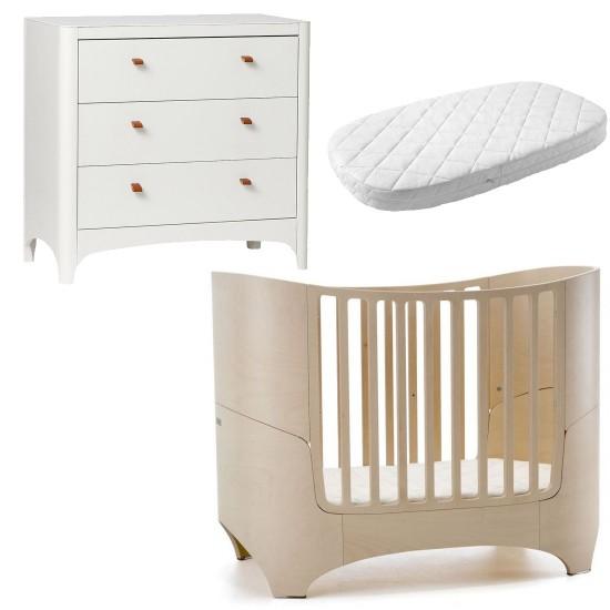 Leander Classic Cot + Dresser + Mattress