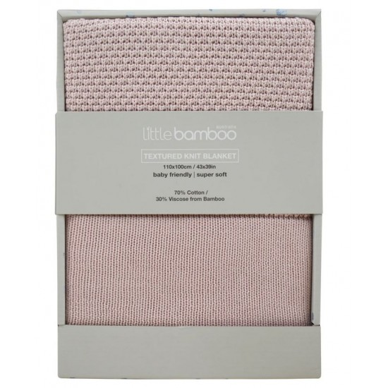 Little Bamboo Textured Blanket - Dusty Pink