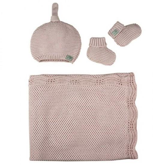 Little Bamboo Textured Knit Gift Set