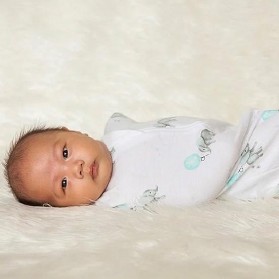 Living Textiles Zip Up Swaddle 0.2TOG 3-6 Months - DREAM BIG