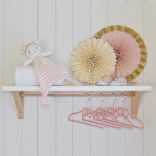 Living 6pk Baby Bow Hangers - Pink