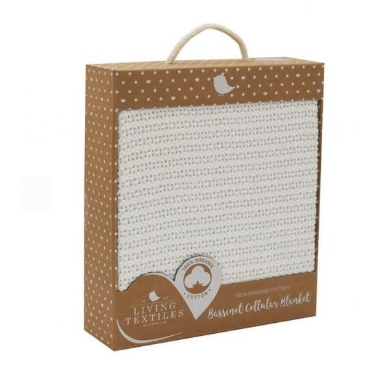 Living Textiles Organic Bassinet/Cradle Cellular Blanket