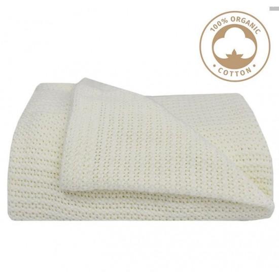 Living Textile Cot Cellular Blanket