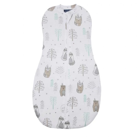 Living Textiles Zip Up Swaddle 0.2TOG 0-3 Months - Gone Camping