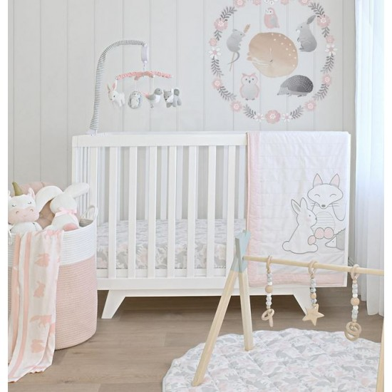Lolli Living Musical Cot Mobile - Forest Friends