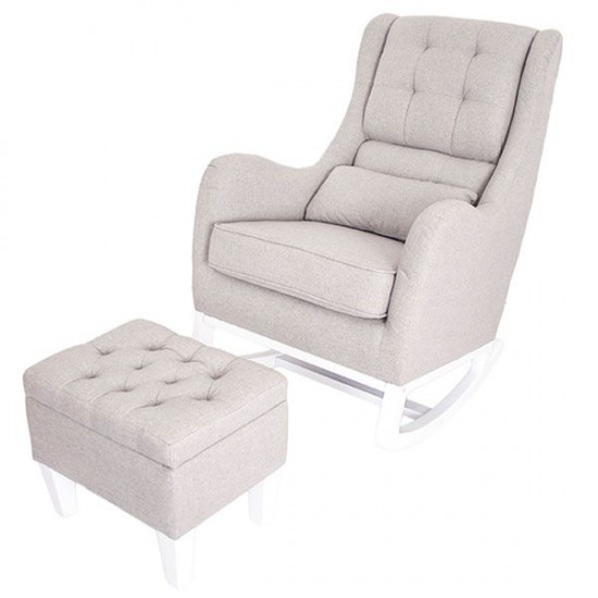 Love N Care Vesta Rocking Chair Grey