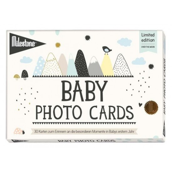 Milestone Baby Photo Cards Limited Edition - Over the moon