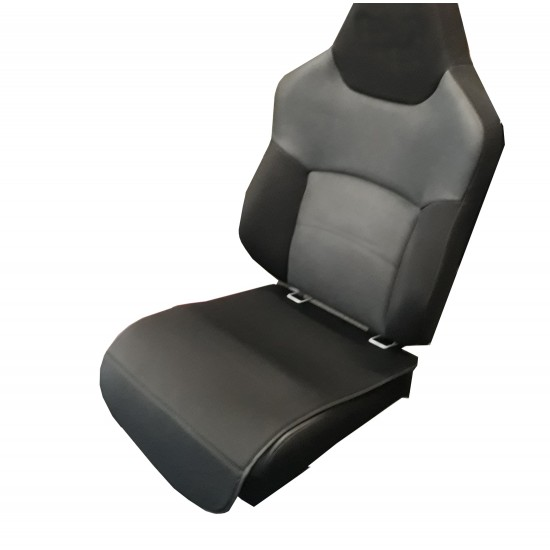 Child Car Seat Mat - Black Fabric