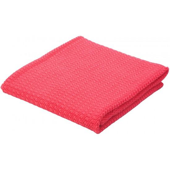 Moba Cotton Cellular Blanket - Raspberry