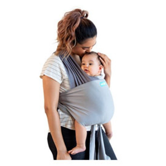 Moby Easy Wrap Carrier in Smoked Pearl