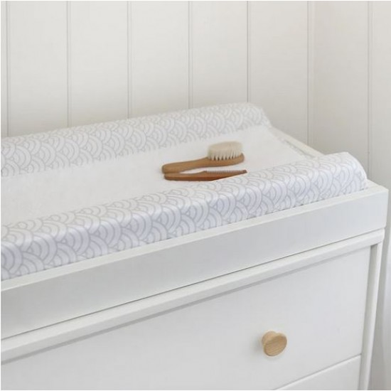 Living Textiles Organic Muslin Change Pad Cover - Wave