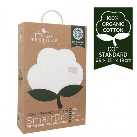 Organic Smart-Dri Mattress Protector - Standard Cot