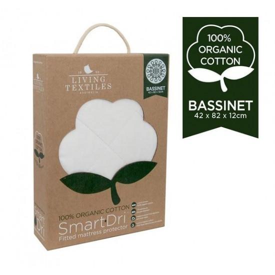 Organic Smart-Dri Waterproof Mattress Protector - Bassinet