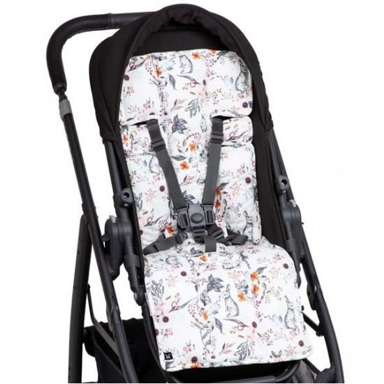 Outlook Pram Liner Cotton - Enchanted Bunnies