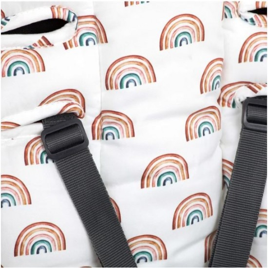 Outlook Pram Liner Cotton - Rainbow
