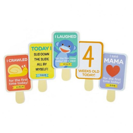 Pearhead Baby's Milestone Photo Sharing Cards - 30 Piece