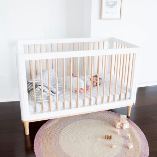 Babyhood Riya Cot 5 In 1 in White