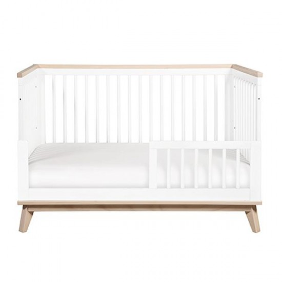 Babyletto Scoot 3 in 1 Cot - White/Washed Natural