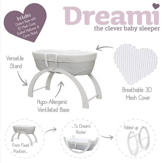 Shnuggle Dreami Sleep System Grey