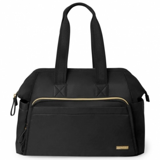Skip Hop Mainframe Wide Open Diaper Satchel - Black