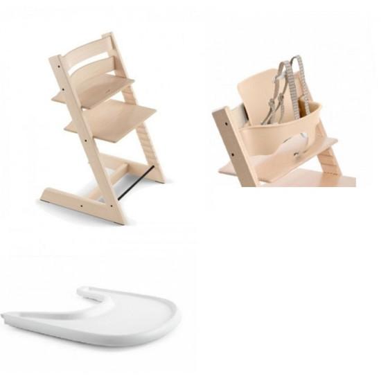 Stokke Tripp Trapp High Chair + Babyset + Tray