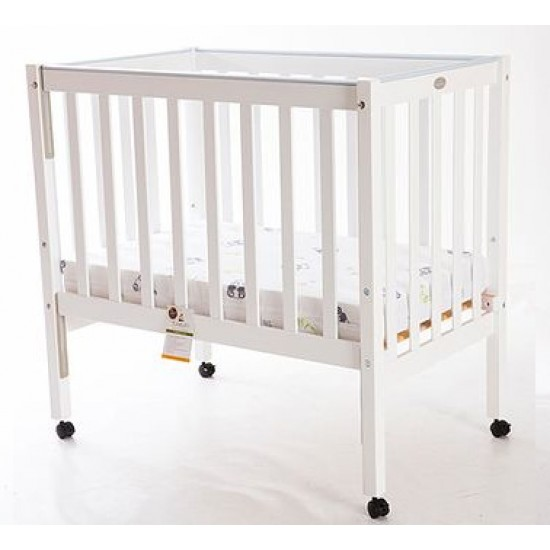 Sunbury Compact Cot in White & Mattress