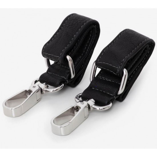 VANCHI Leatherette Pram Clips - Black