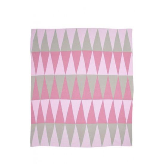 Weegoamigo Carousel Cotton Knit Baby Blanket