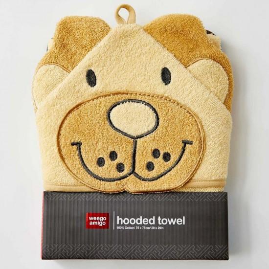 Weegoamigo Colourplay Hooded Towel - Lion