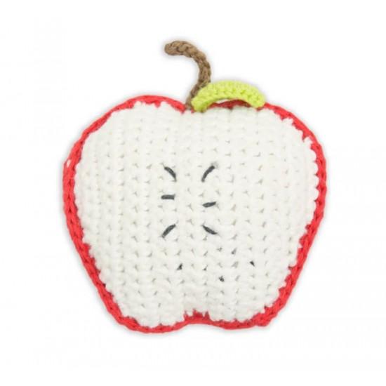 Weegoamigo Crochet Rattle - Apple